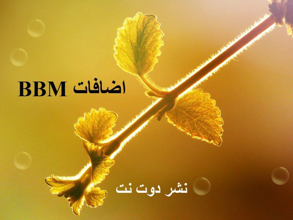 اضافات bbm من موقع نشر دوت نت